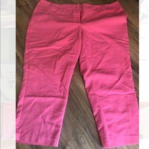 Pink capris dressy pants sz 18